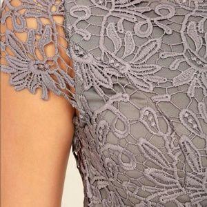 b43fdabbf2 Lulu s Dresses - Lulus Hidden Talent Backless Grey Lace Dress